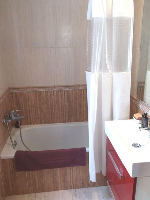 Lavabo privado con bañera.