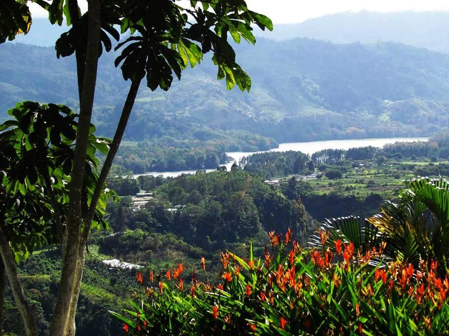 Excelente vista y disfrute de Represa de Cachí