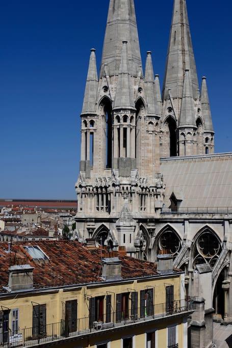 L'Eglise des Réformés, trônant tout en haut de la Canebière.