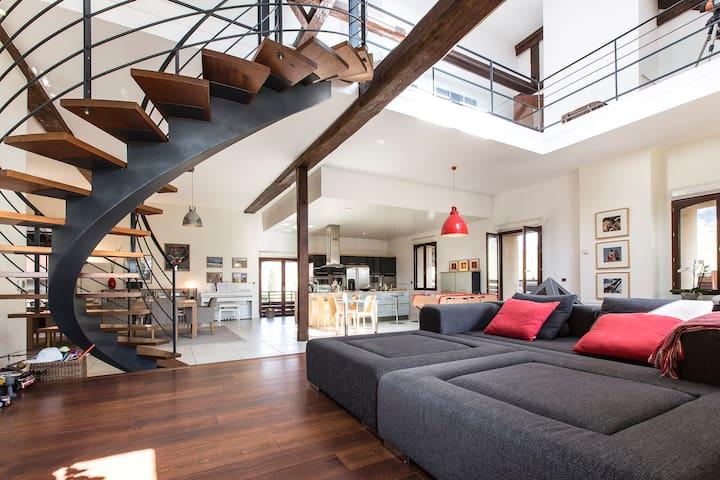 Très beau loft, piscine & jardin - Annecy-le-Vieux - Loft