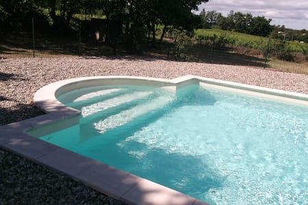 Charmante maison avec piscine - pied du Mt Ventoux - Bédoin - Ev