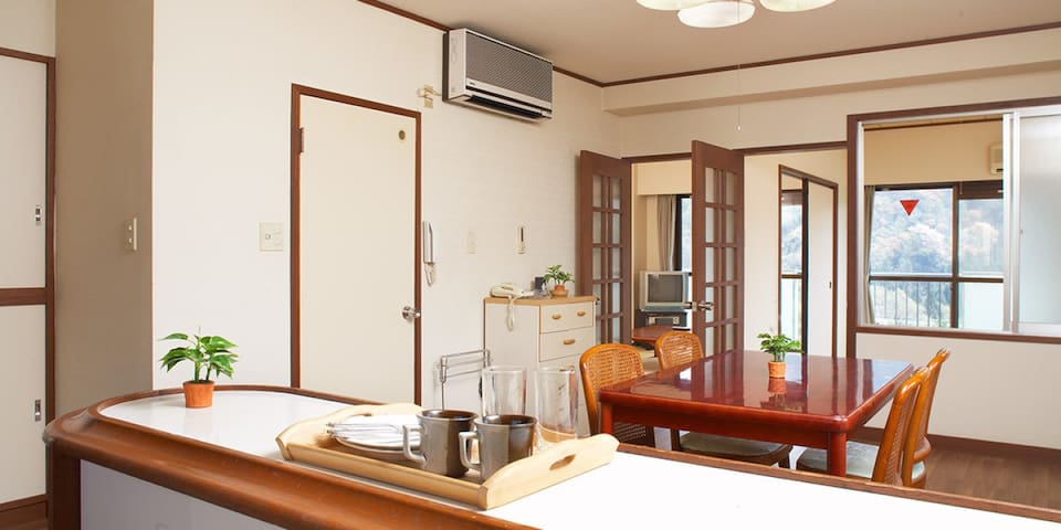 Condominium with chartered hot springs♪伊東温泉,2LDK(和室)【From 6 pax】