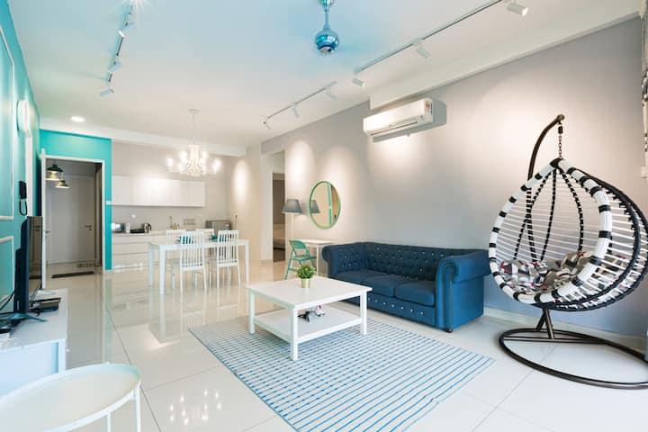 The Santorini ★ Arte S ★ FREE WIFI @ 3房公寓★ 高速无线上网