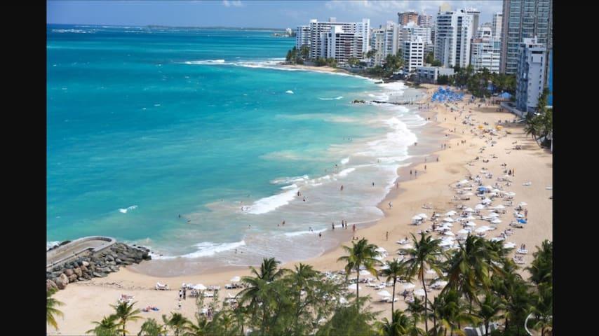 WAKE UP WARM BLUE OCEAN!!! - San Juan - Apartament