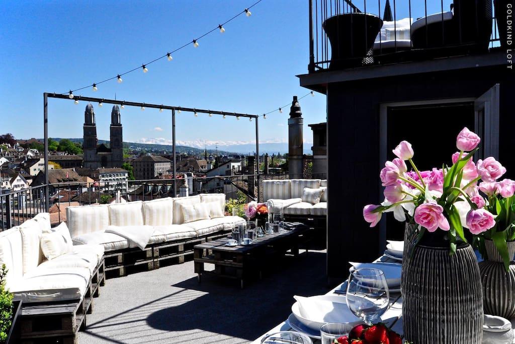 Rooftop Main Lounge