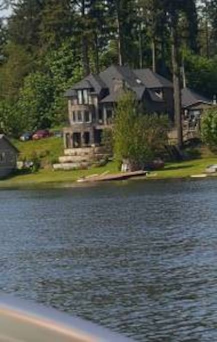 View of Villa from Lake