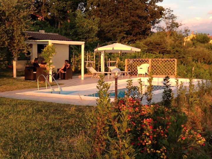 Appartamento in villa con piscina!