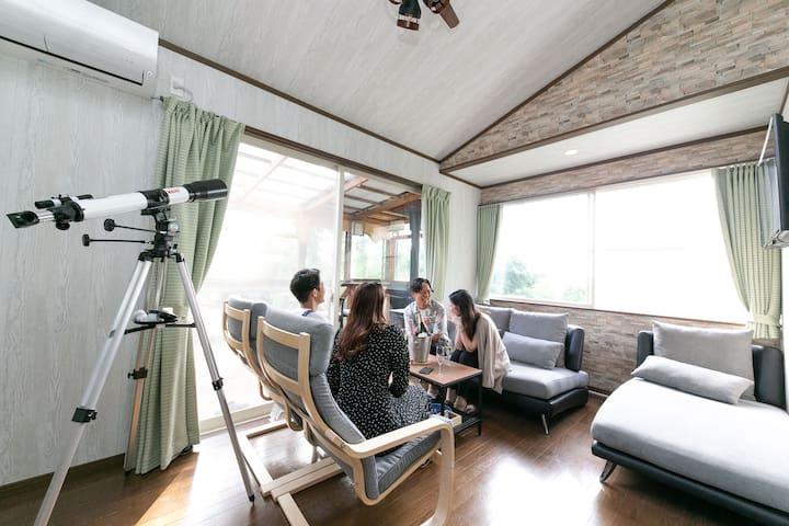 GoTo利用可!最大8名!富士絶景&2つの寝室シアター(80&60型)屋根付BBQ、熱海・伊豆・三島
