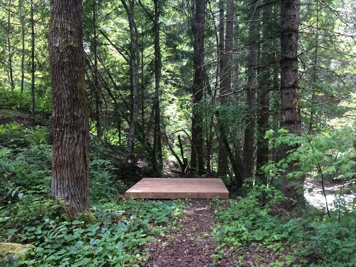 Sproule Creek tent pad #2