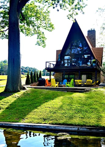 The PLX A-Frame Cabin On The Lake