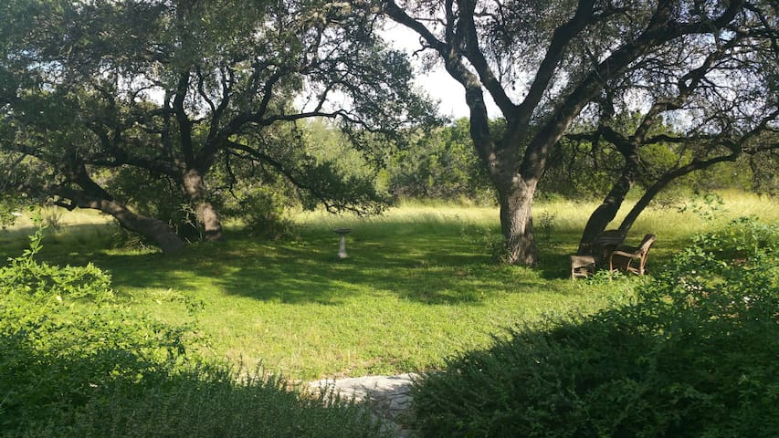 Upstairs Studio Hill Country View