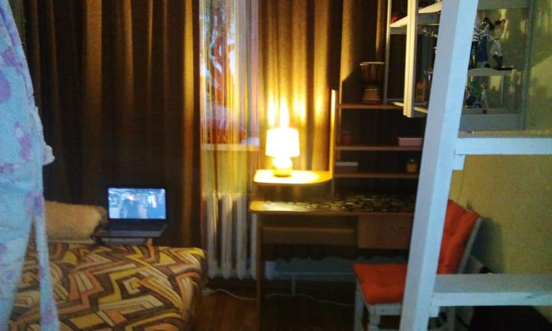 Нappy place/Студия с мезонином в районе Фуникулера