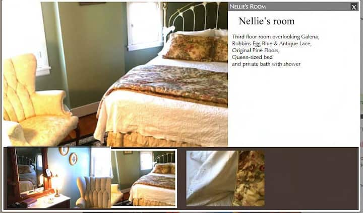 Annie Wiggins Guest House:  Nellie's room