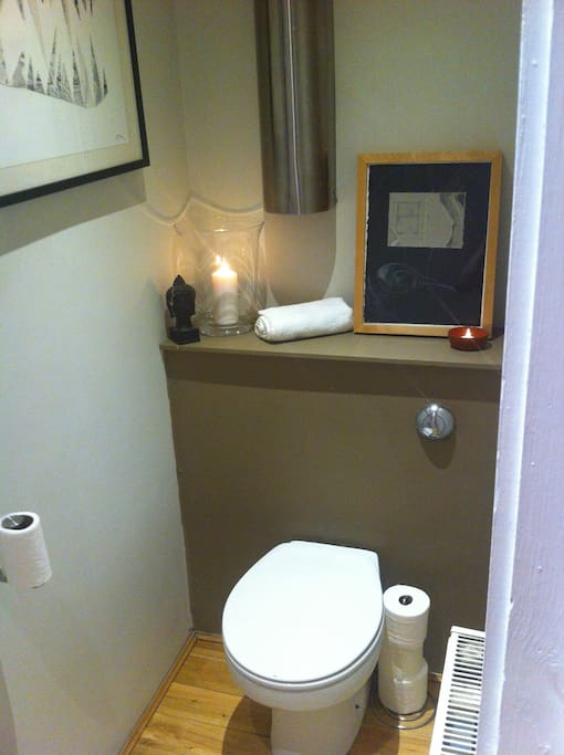 Guest toilet with hand basin