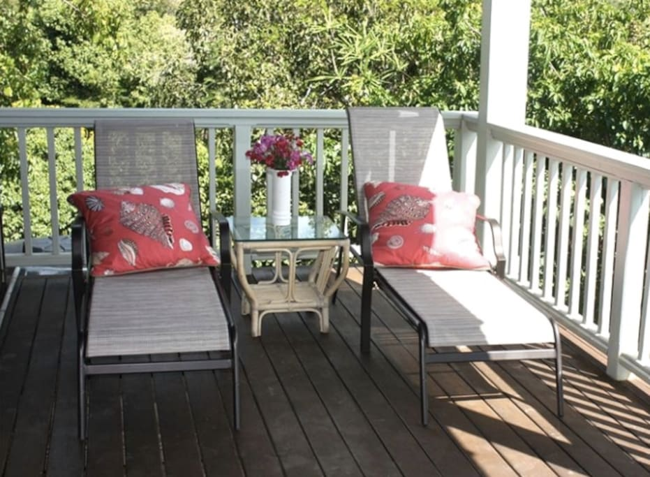 Take an afternoon snooze on a shaded deck.