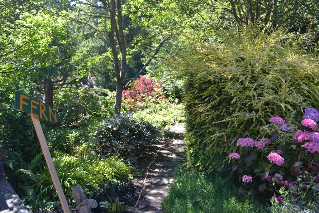 """""""Fernside on Whidbey Island is a perfect, secluded getaway.""""  ~  Madhav"""
