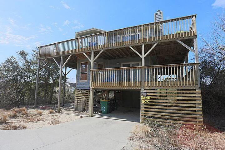 1657 Sand Box* 9 min. walk to beach access* Pet Friendly* Screened In Porch*Beach Wagon