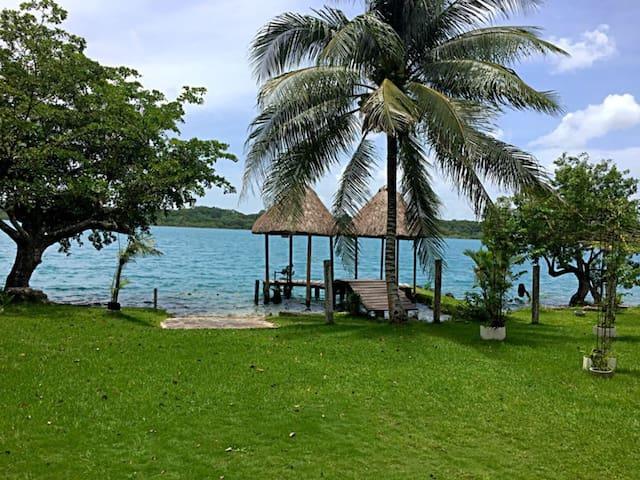 Habitación Xa'án en Xulha, Laguna de Bacalar