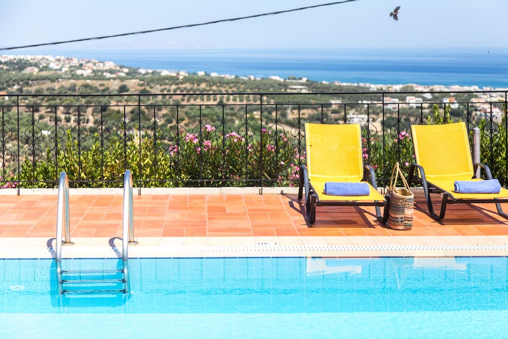 The villa offers stunning, panoramic views