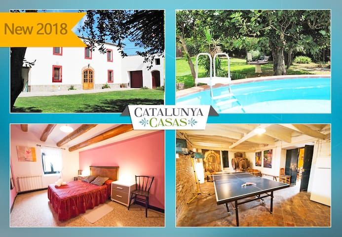 Catalunya Casas: Masia for 10 people, in the heart of Spanish wine country!