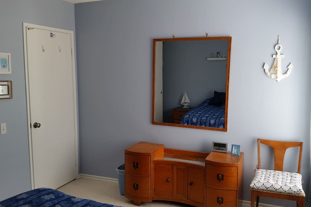 Nightstands, drawer space with privacy lock.