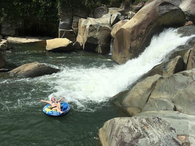 El Yunque Hippie Glamper by the river