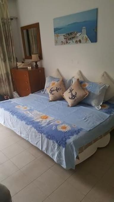 Bedroom with sofa-doublebed