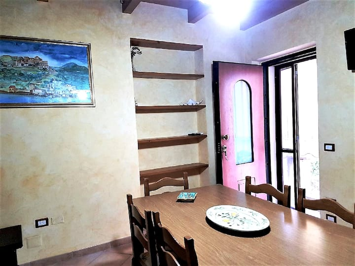 Apartment with 2 bedrooms in Pisciotta Marina, with wonderful city view and balcony - 150 m from the beach