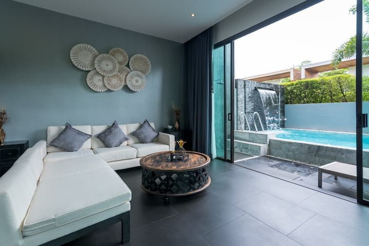 Private Pool Villa/2BR/Daily Cleaning/Phuket/GRA