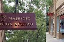If you want to stretch you body and do some yoga, the Majestic yoga studio is just around the corner