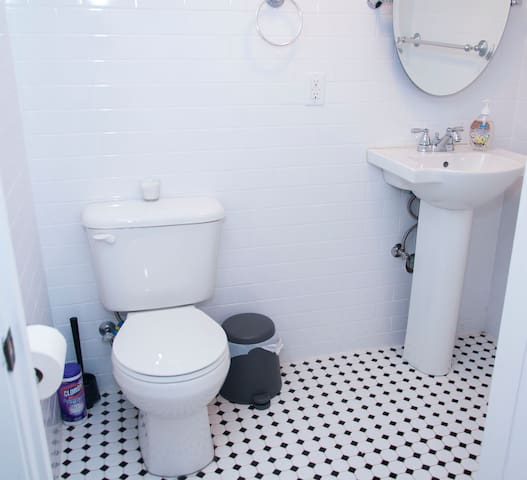 You can also use the secondary bathroom our apartment has