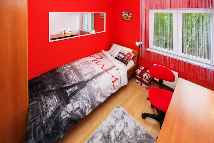 ROOM 2: SWEET DREAMS IN THE COMFORTABLE SINGLE BED (0.9 x 2.0) (BY GUEST'S REQUEST WE WILL PUT ONE ADDITIONAL SINGLE BED (0.9 x 2.0)