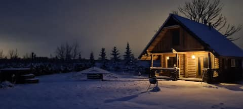 """Romantic stay at loghouse"