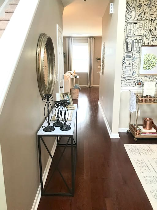 •Welcome! This is our bright + spacious entry way. You will see our guestbook on your left. Please, leave us a sweet note!•