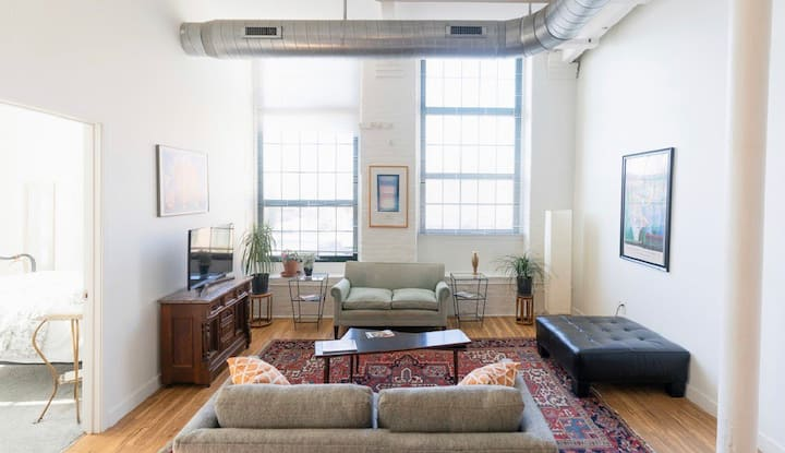 Spacious, Sunny Apartment in Historic Mill