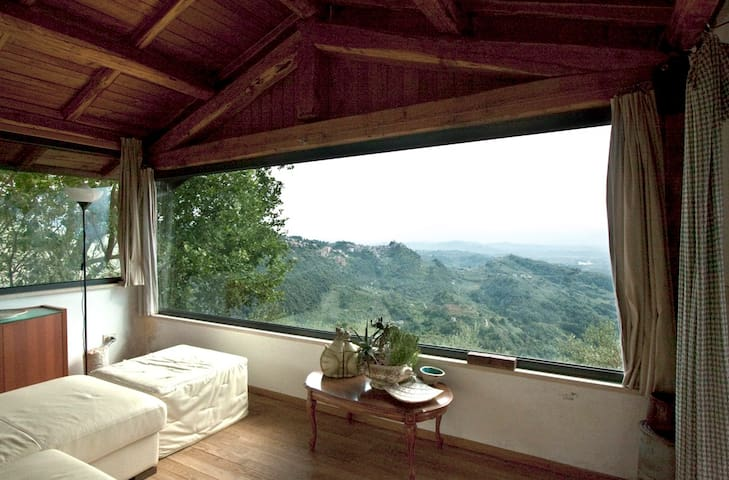 Amazing Chalet with view - Bellegra - Houten huisje