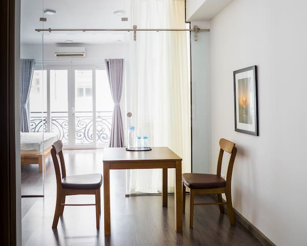 1BR service Apartment D1 free laundry+ cleaning