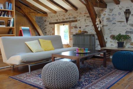 Petite maison rurale, chaleureuse - Aubigny