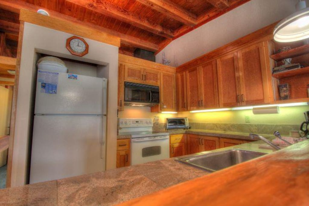 Kitchen - The newly remodeled kitchen is well appointed and great for cooking at home.