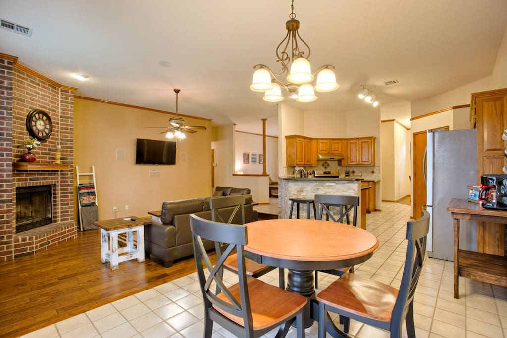 Open floor plan with plenty of room to spread out, entertain, and relax!
