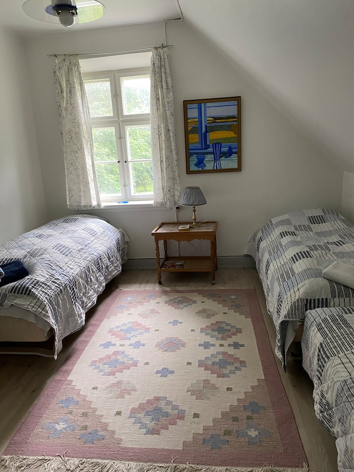 Room 9. Two single beds.