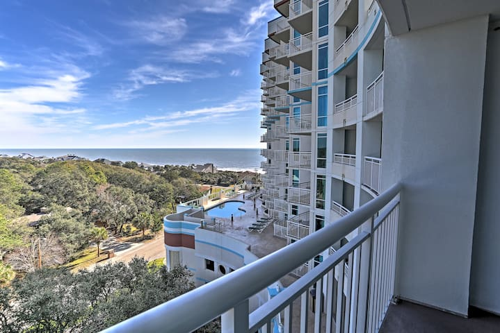 Feast your eyes on views of the coastline from the private balcony.