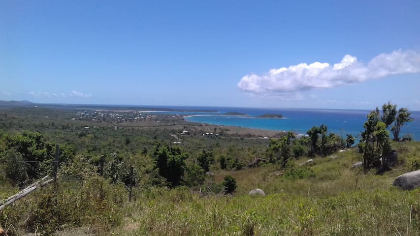 View from the mountains over Esperanza