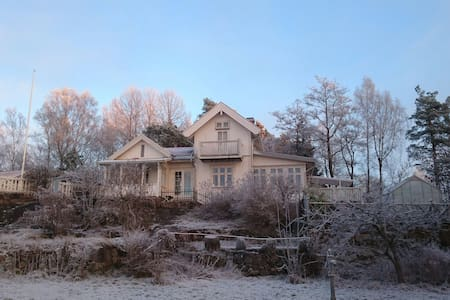 Winter by the Oslofjord - Fjellstrand - Haus