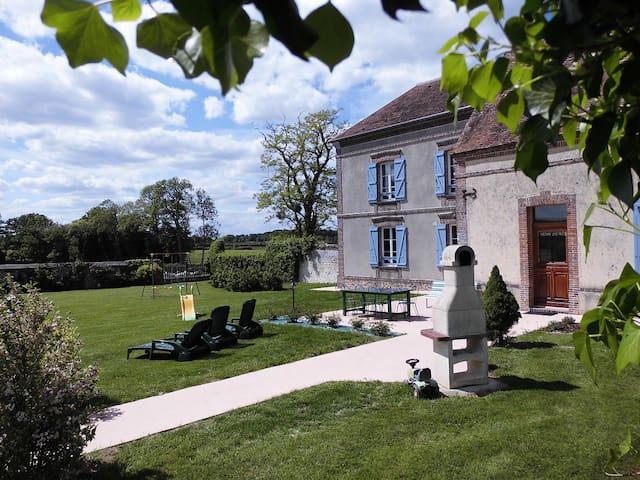 120km de Paris Ouest - Piscine, étang privé - La Chapelle-Fortin - 단독주택