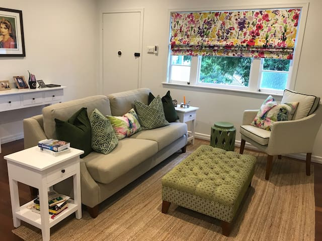 The comfy lounge - settle in and read a book or watch a little netflix