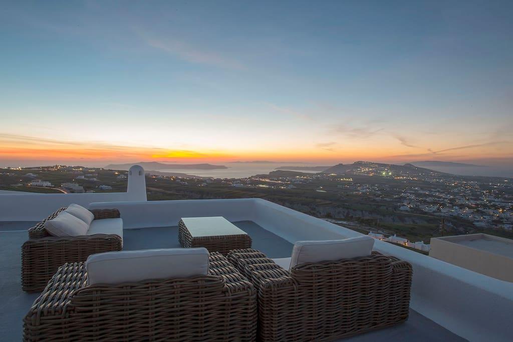 Upper terrace amazing views