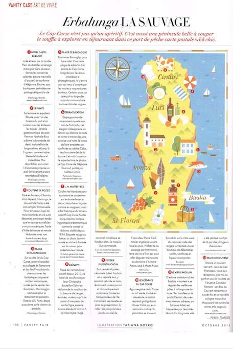 Vanity Fair sur Erbalunga et le Cap Corse