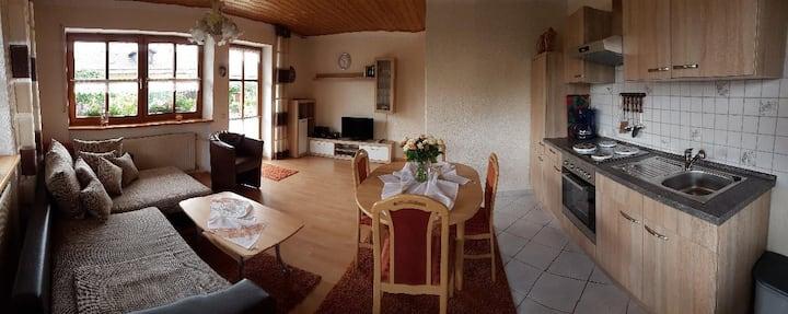Ferienwohnungen Kasparbauer (Regen), Ferienwohnung Typ 3 (50qm) mit Terrasse und Küchenzeile