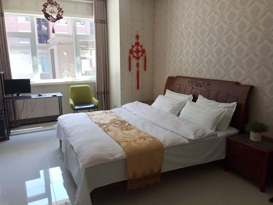 卧室3(主卧面积大,舒适大床,安然入睡,一夜好梦)
